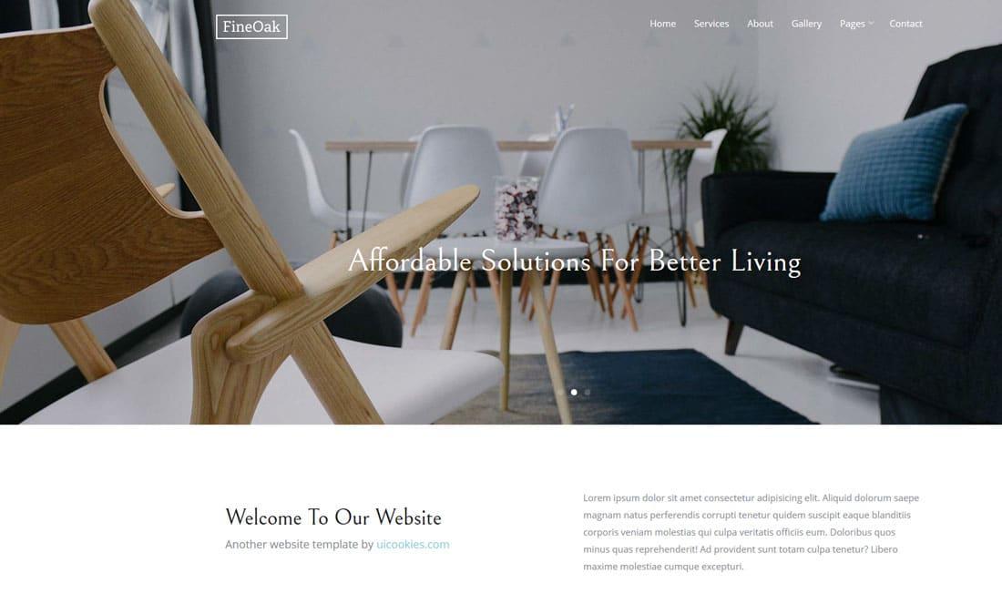 fine-oak-free-construction-website-templates