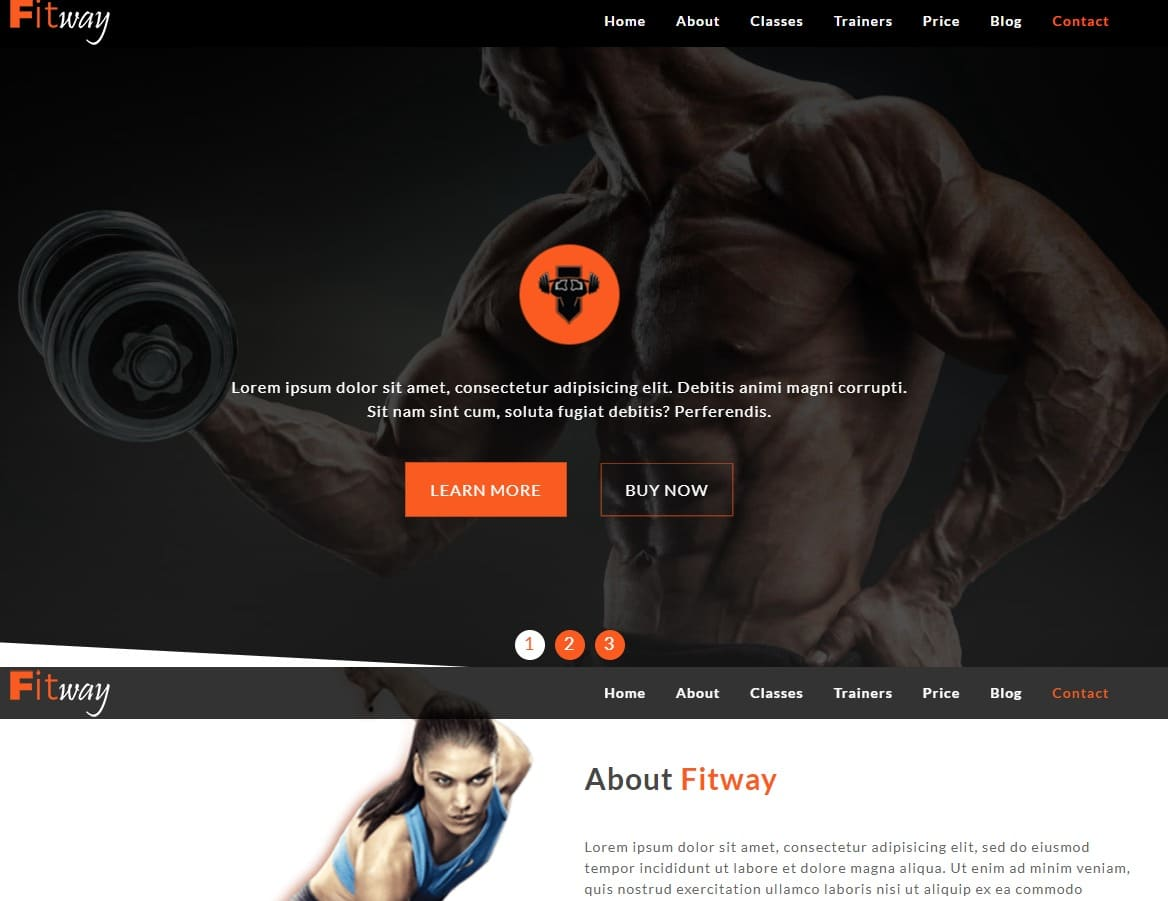 fitway-fitness-website-templates