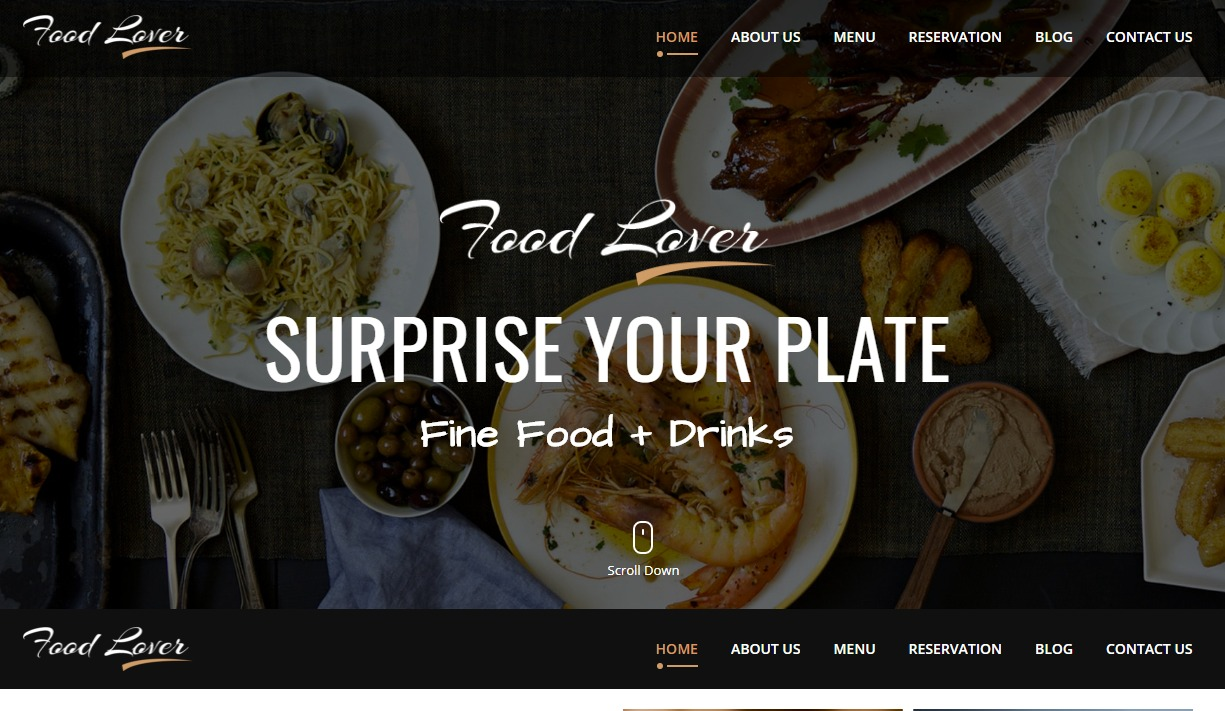 food-lover-html-restaurant-website-templates