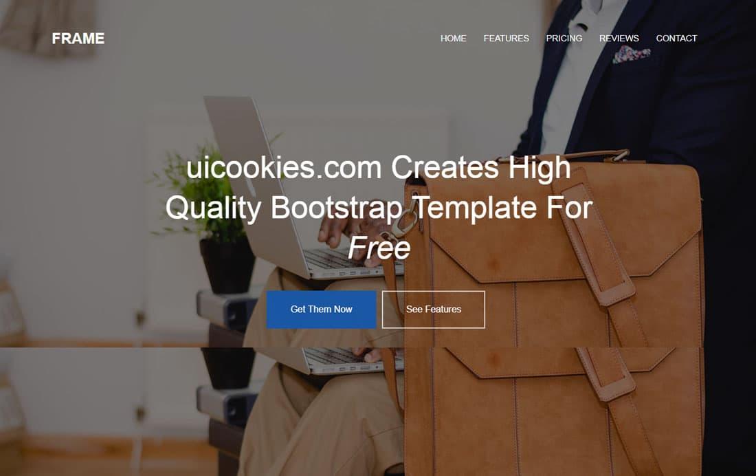 frame-free-landing-page-templates