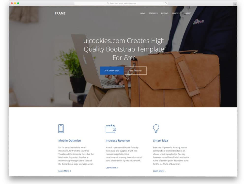 Best Free Simple Website Templates For All Famous Niches - Word website template