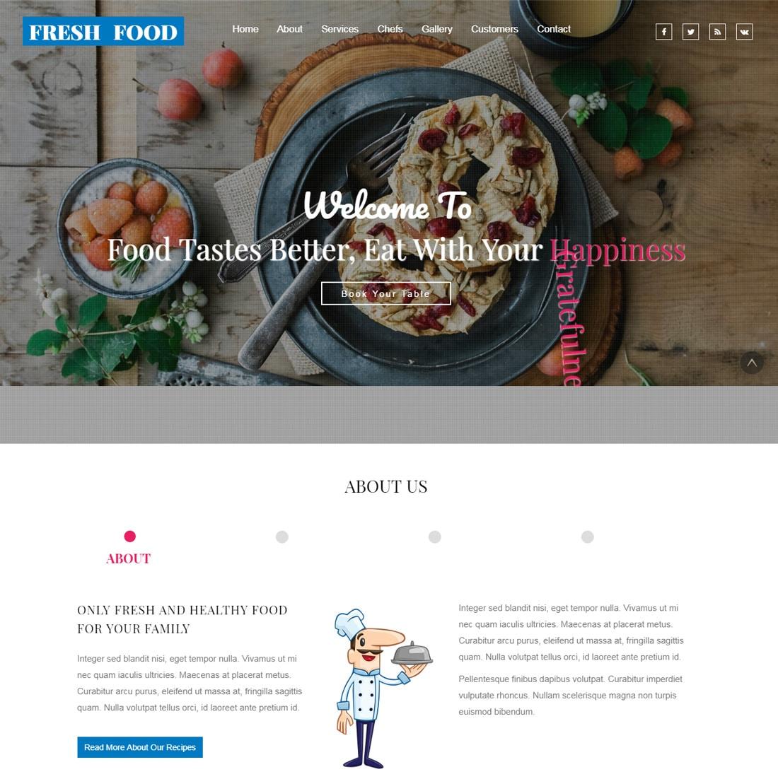 20 Best Ever Free Restaurant Website Templates Of 2018