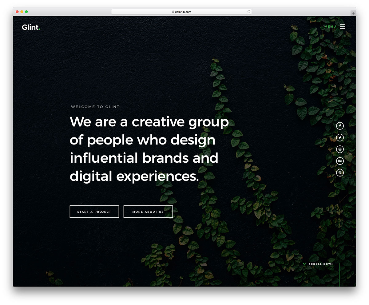 glint-free-one-page-website-templates