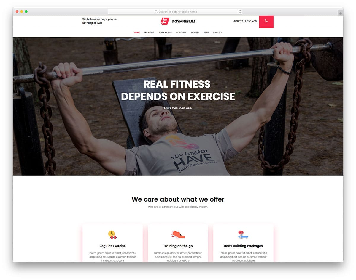 gym-free-one-page-website-templates