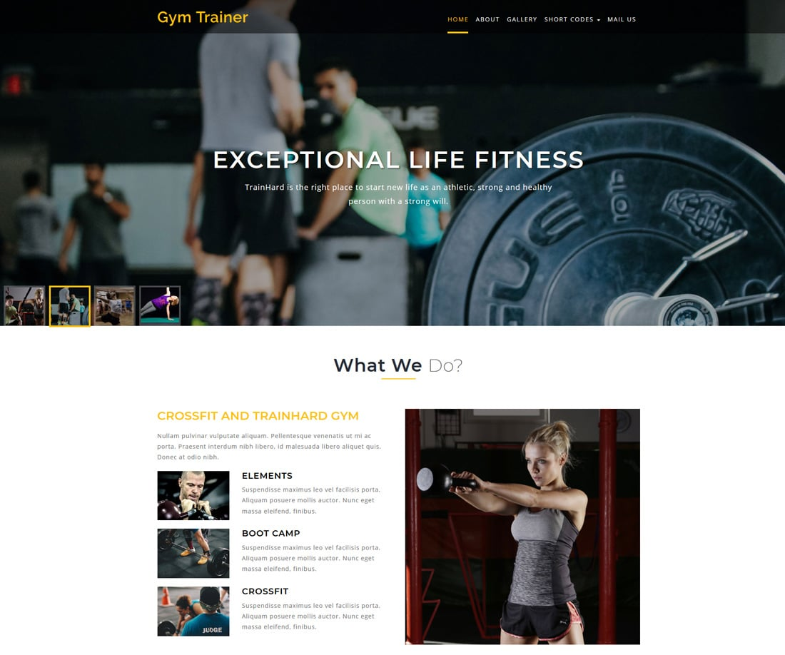 28 Best Free Fitness Website Templates With Fresh New Design 2019