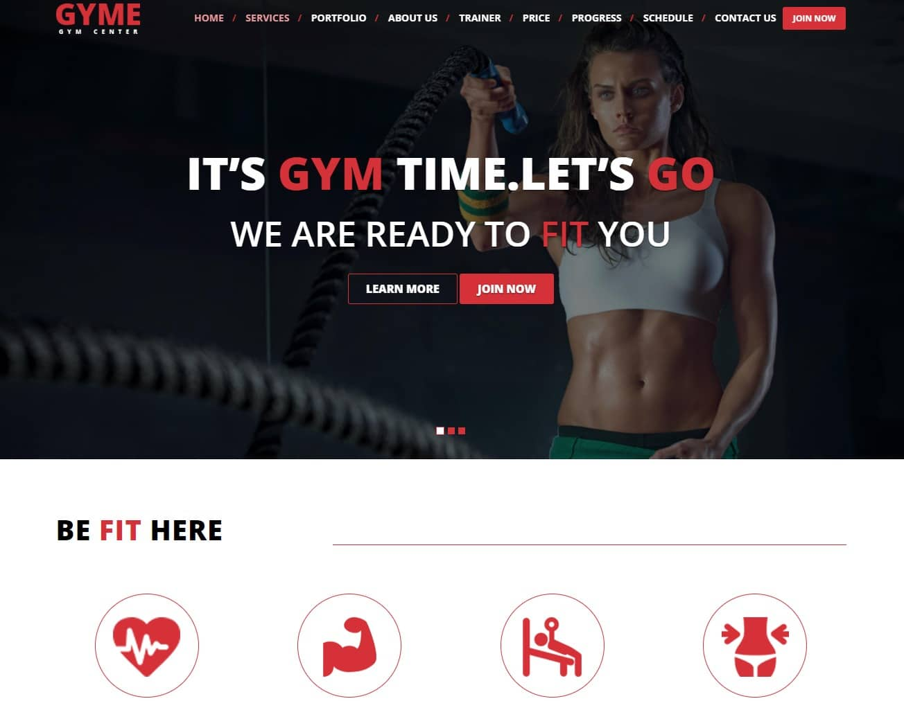 gyme-fitness-website-templates