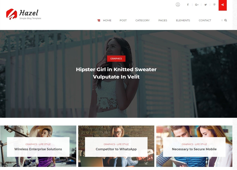 hazel-blog-html-template