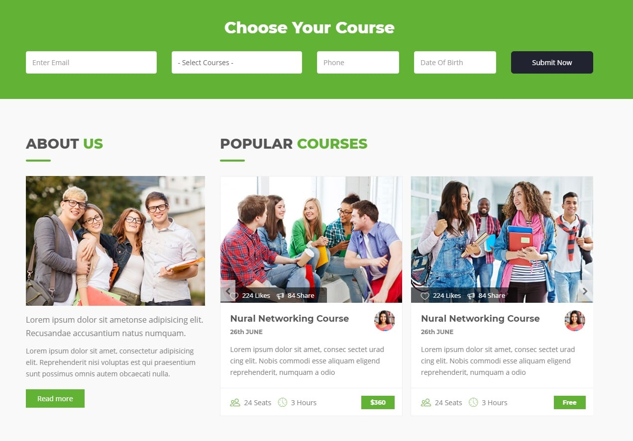 25+ amazing education website templates for college & universities