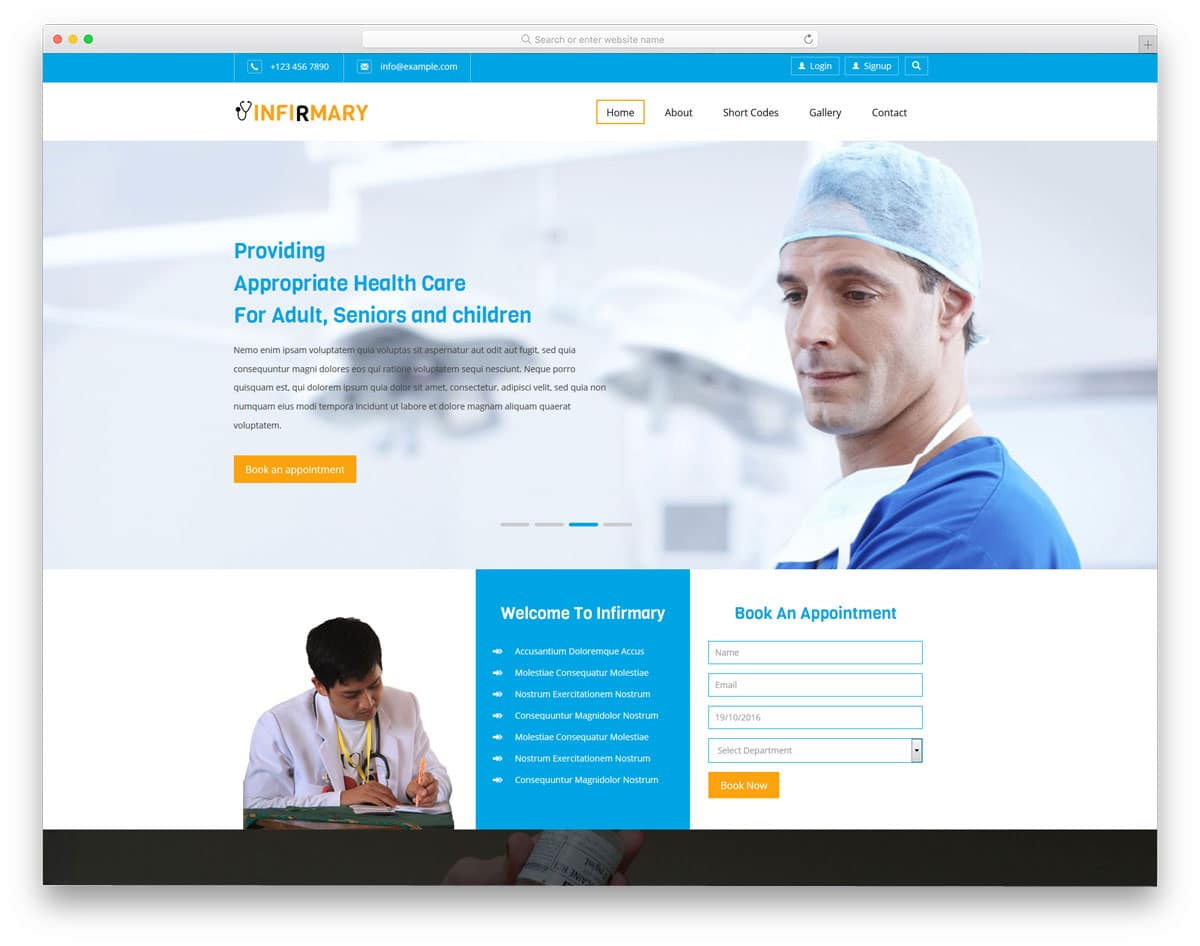 Best Free Medical Website Templates For Presentday Audience - Medical website templates