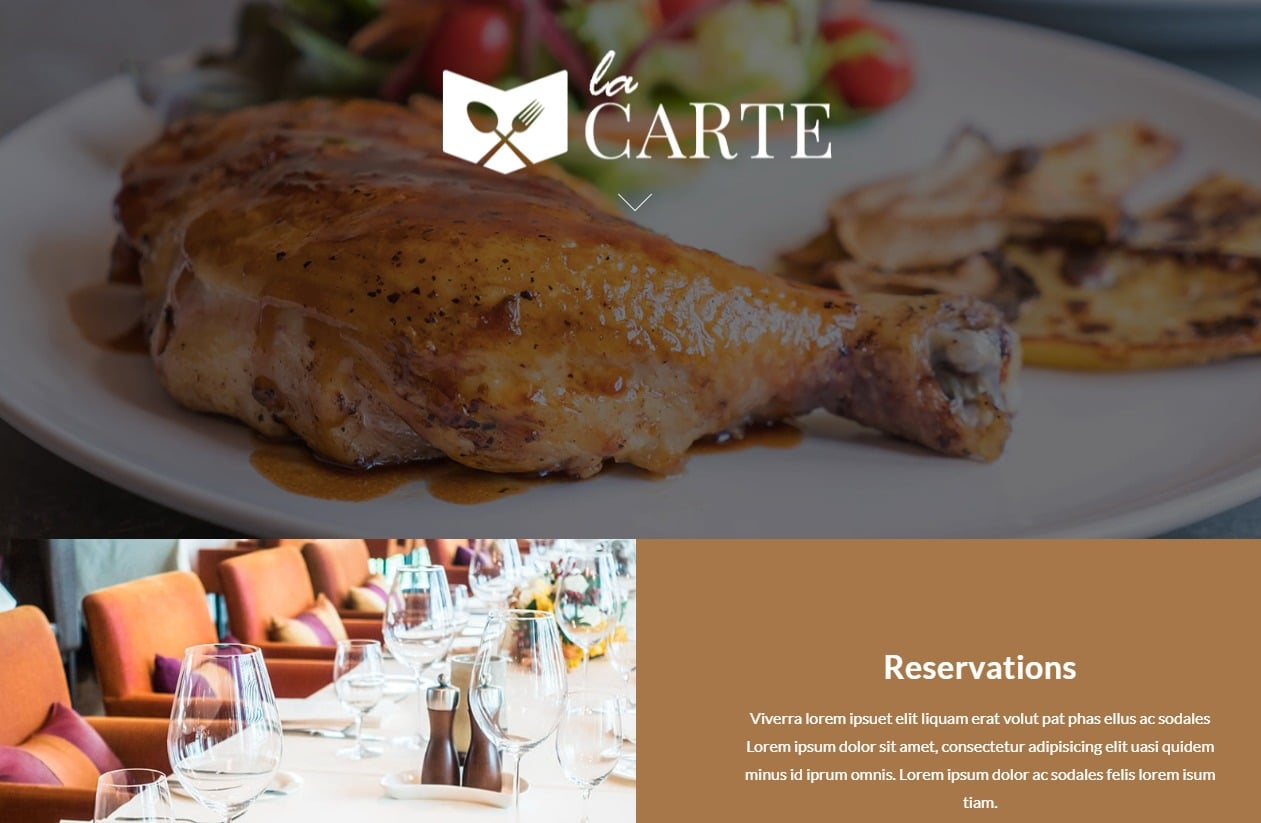 la-carte-html-restaurant-website-templates
