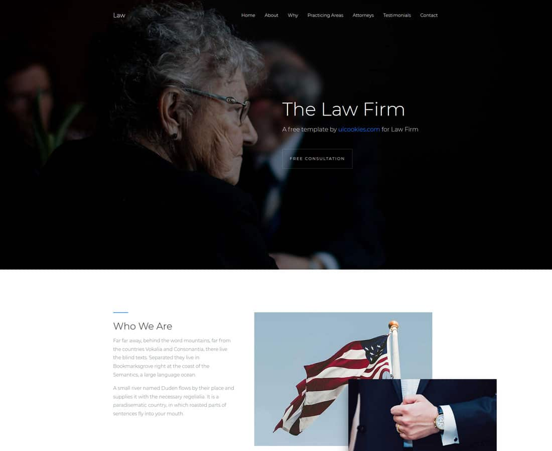 law-free-one-page-website-templates