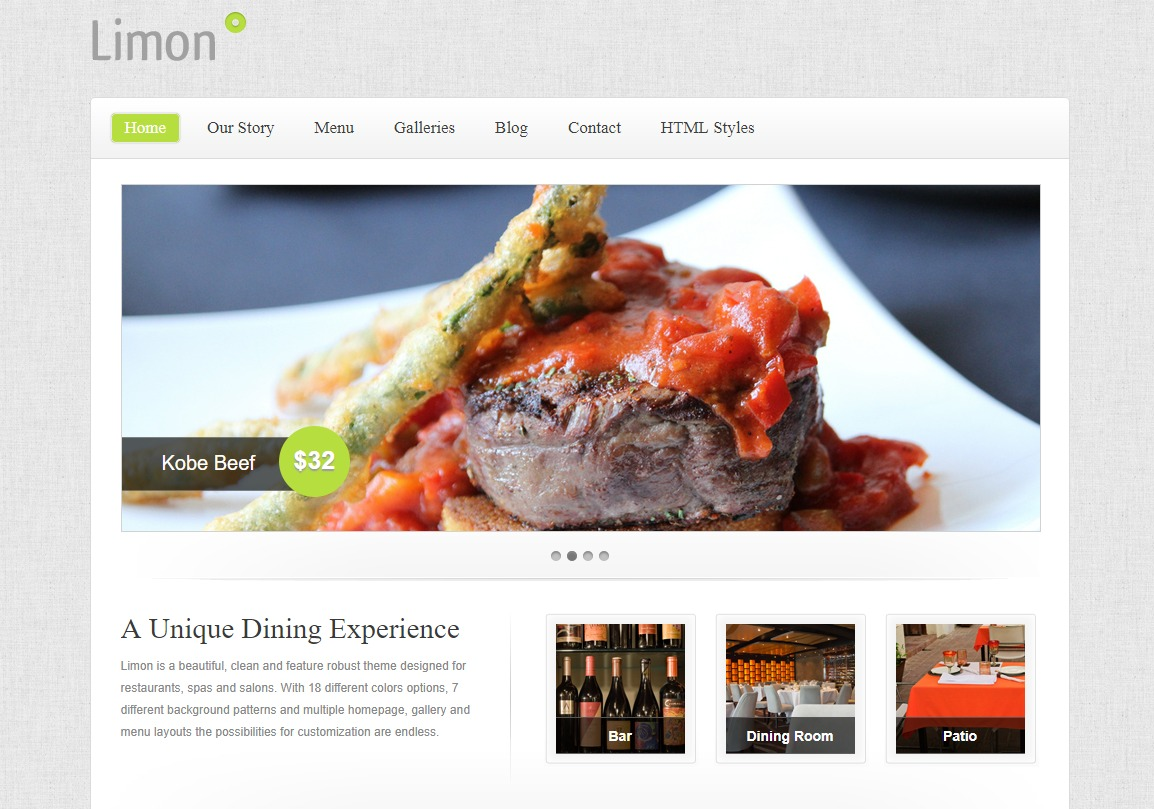 limon-html-restaurant-website-templates