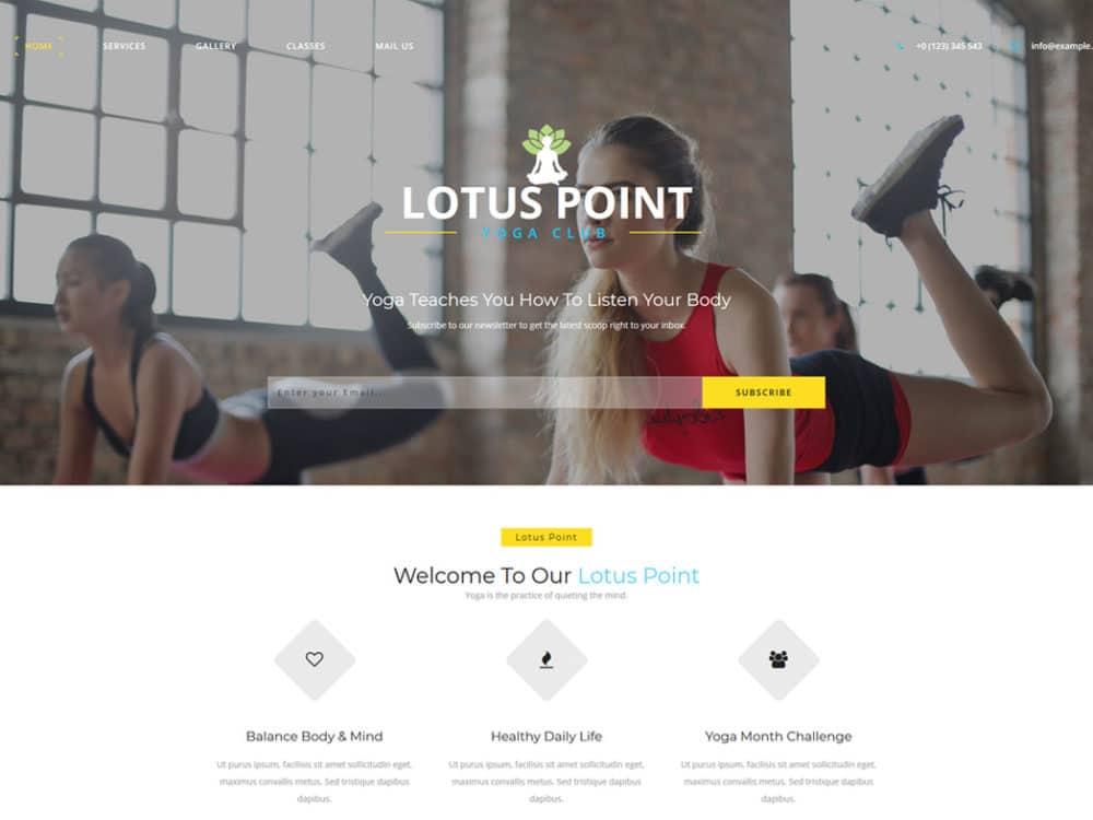 lotus-point-free-fitness-website-templates