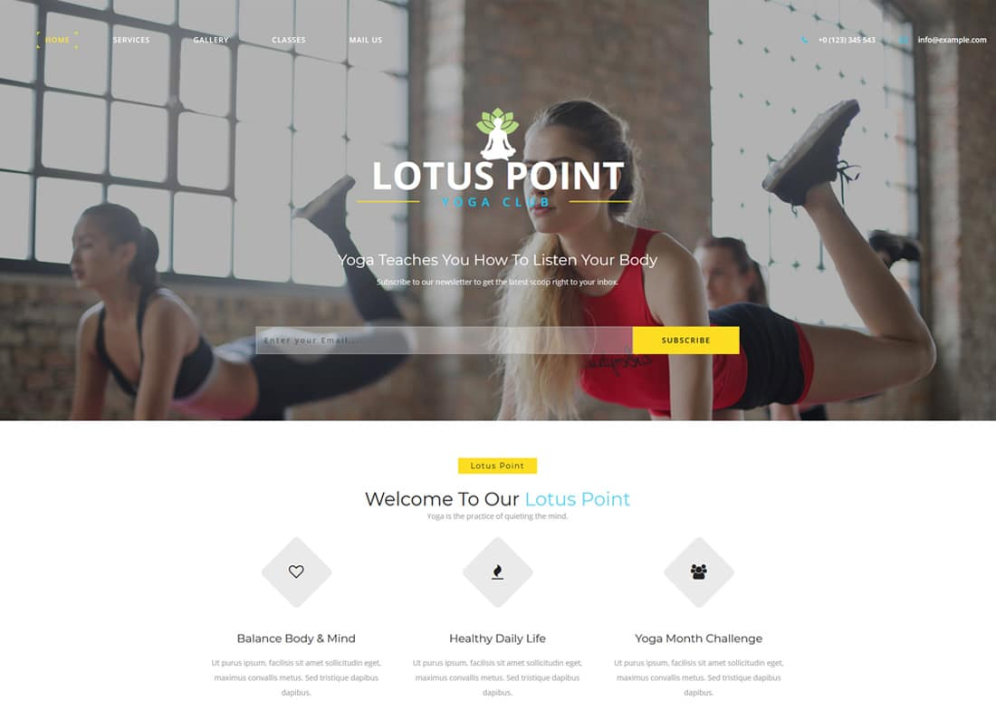 20 best free fitness website templates with fresh new design 2018