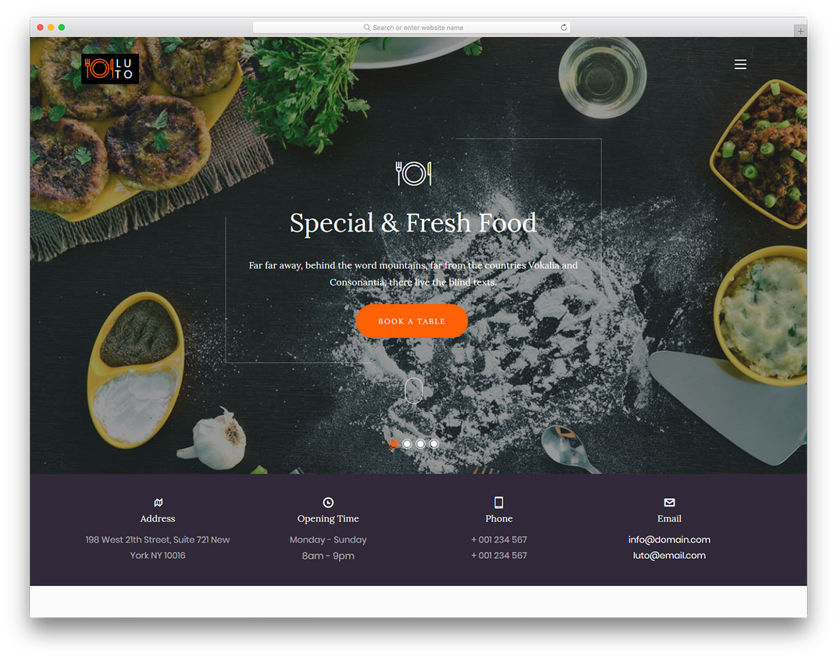 luto-free-restaurant-website-templates