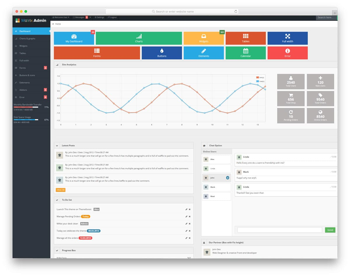 31 Free HTML Admin Templates With Tons Of Useful Features 2019