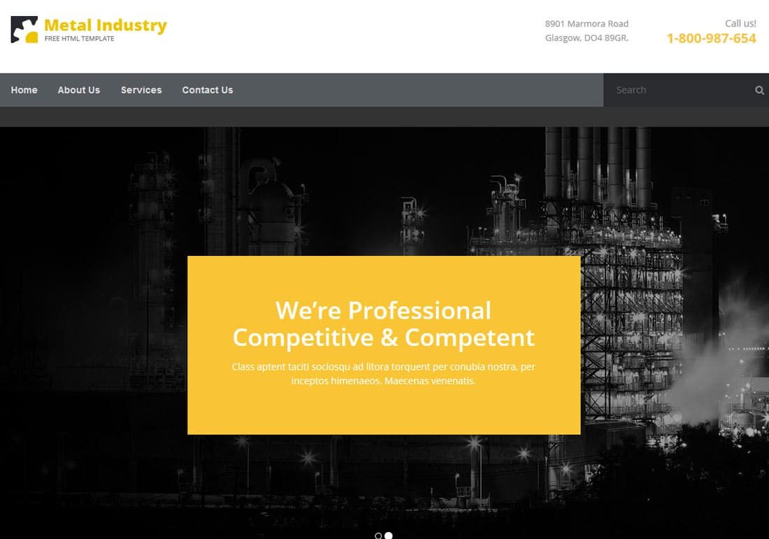 25 Best Free Construction Website Templates For Modern Builders 2018