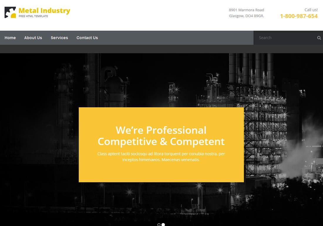 metalix-free-construction-website-templates