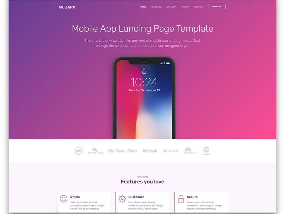 20 free landing page templates with conversion focused design 2018