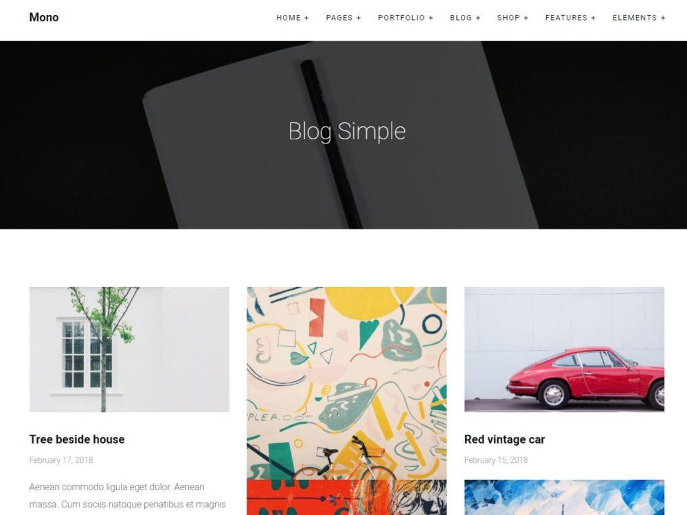 mono-blog-html-template