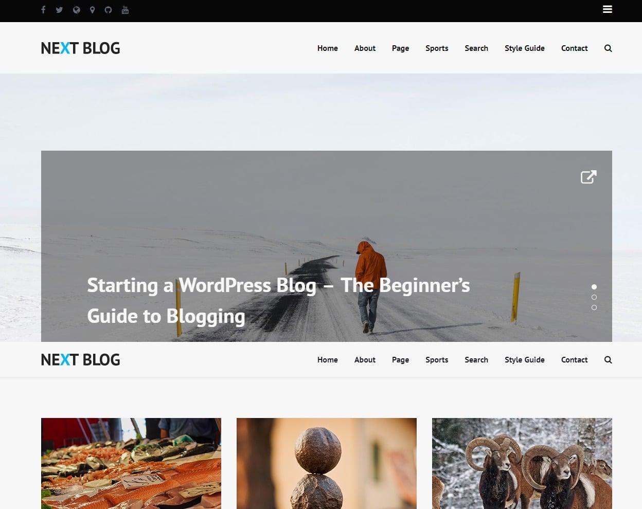 20+ Premium Blog Templates to Create a Stunning Blog 2018 - uiCookies