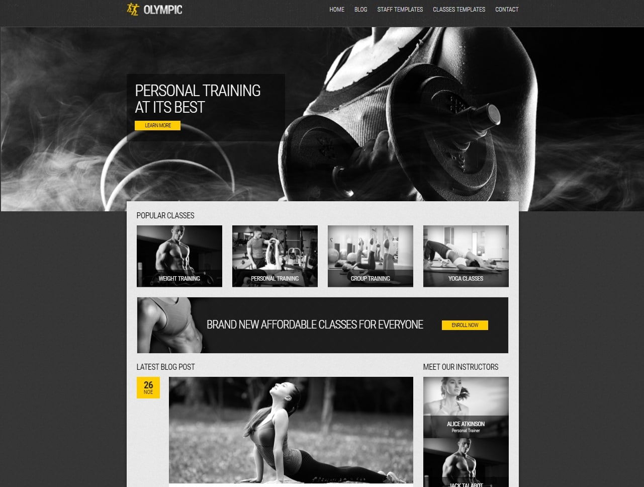 olympic-fitness-website-templates