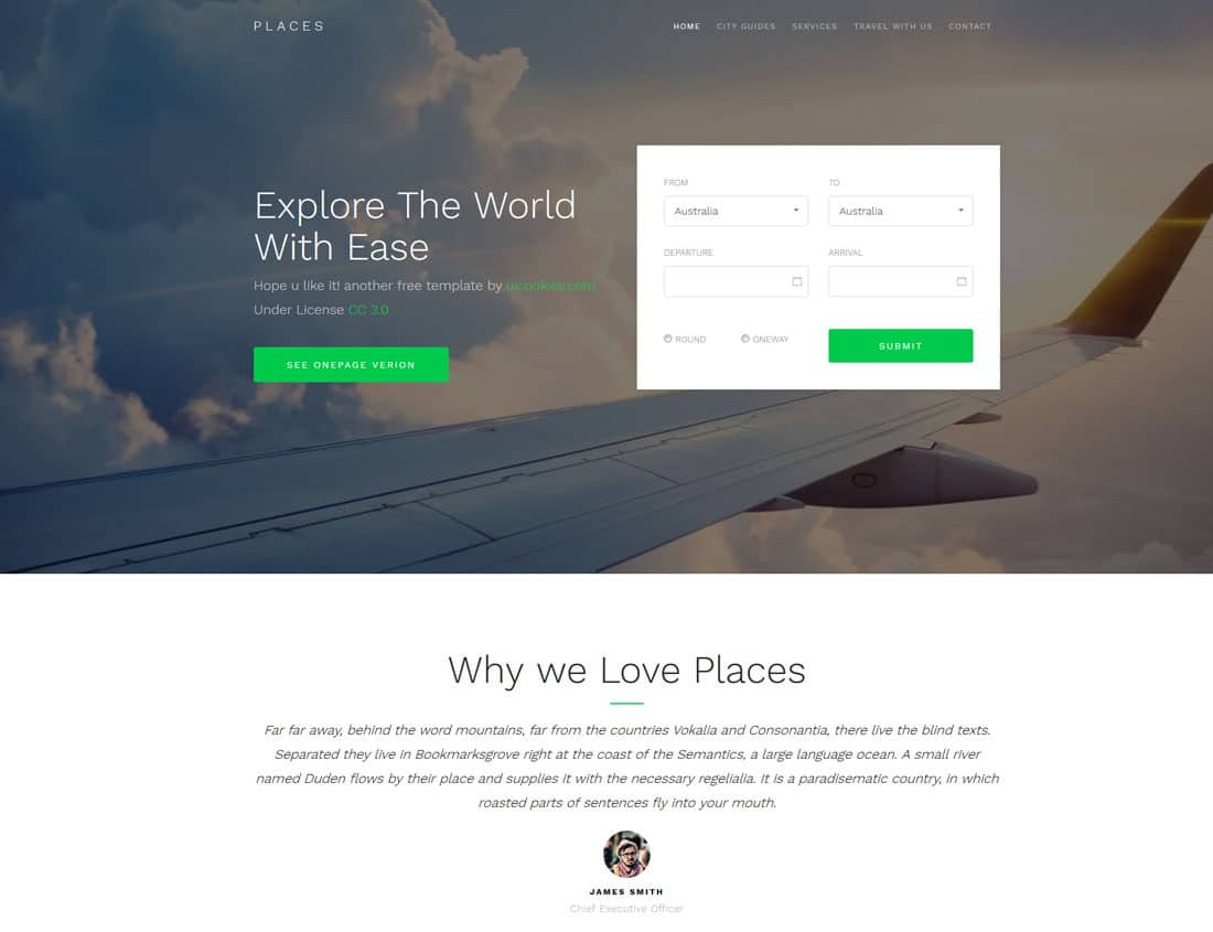 30 Best Free Travel Website Templates With Full Of Colors 2019