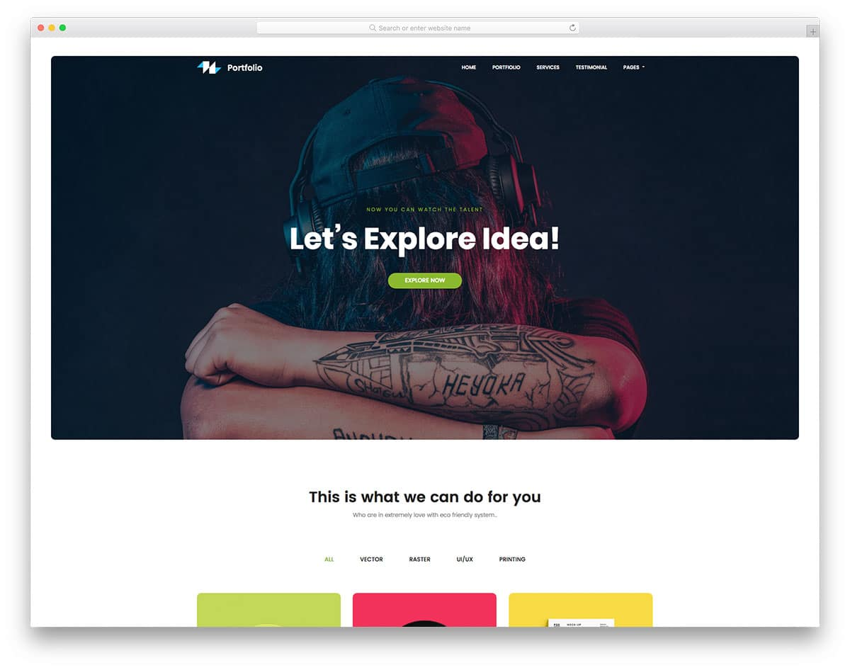 portfolio-free-one-page-website-templates
