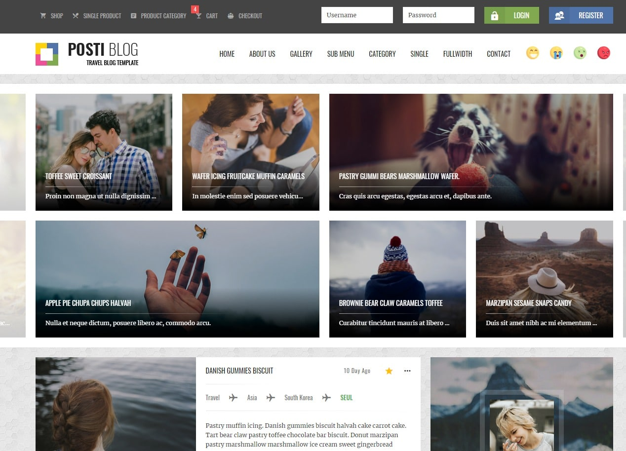 posti-blog-html-template