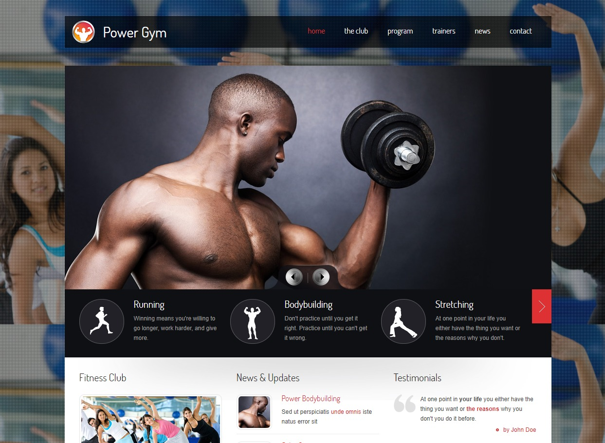 power-gym-fitness-website-templates