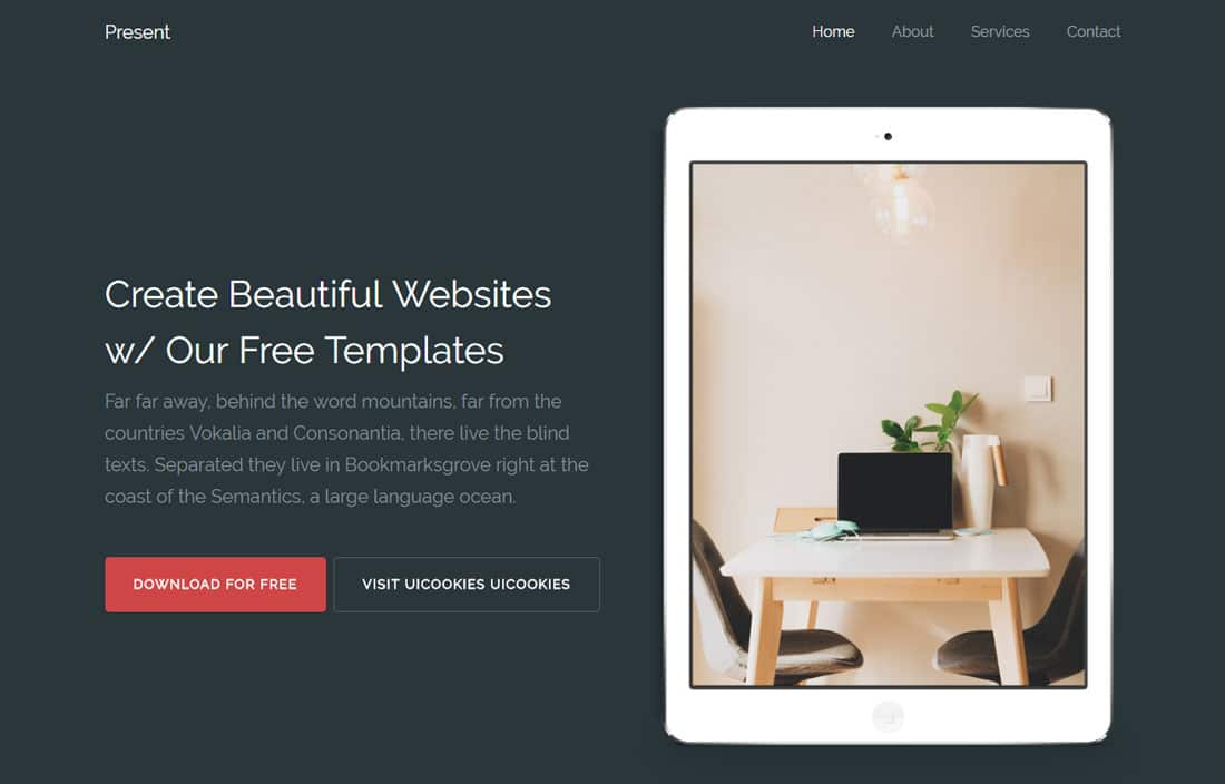 present-free-landing-page-templates