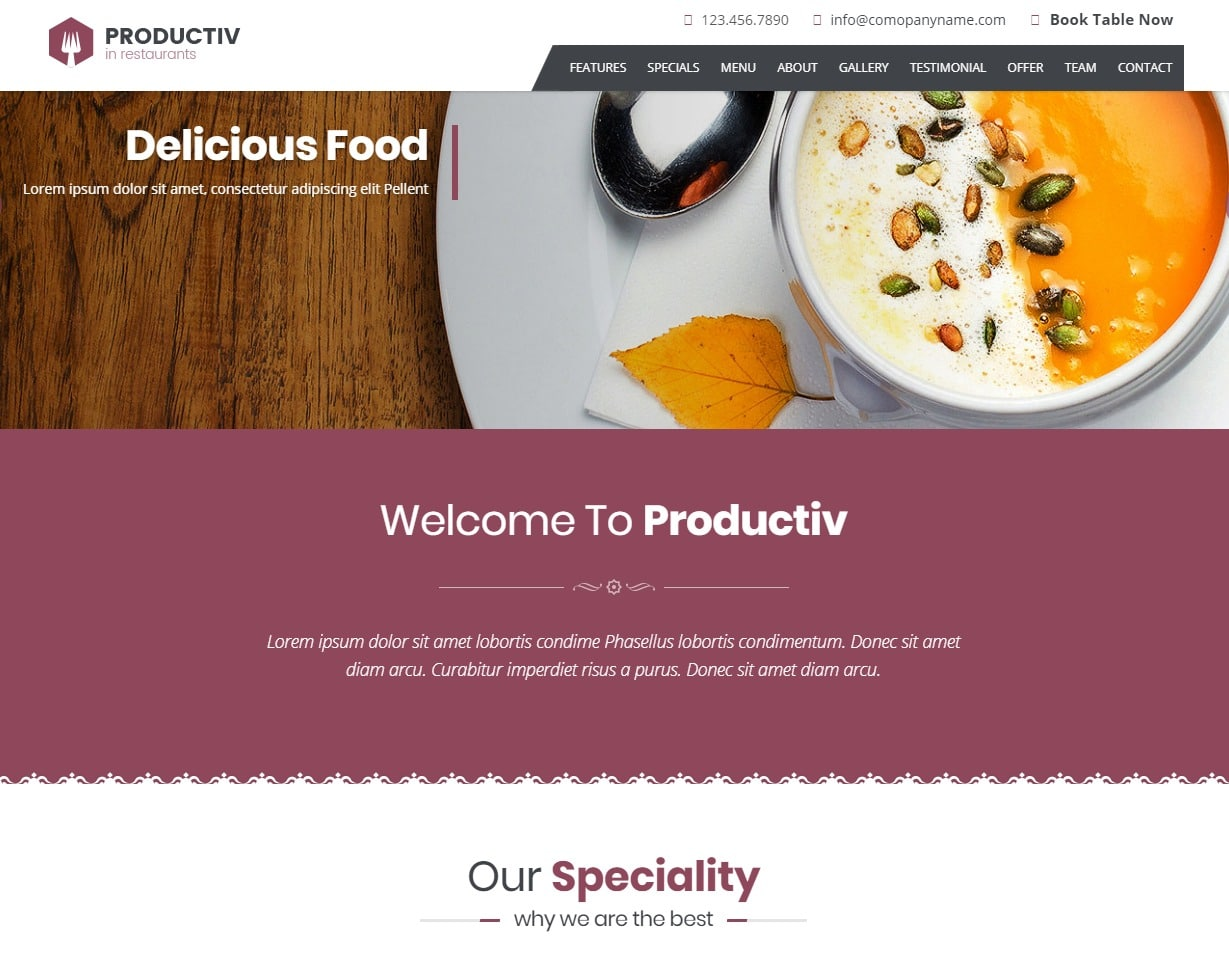 productiv-html-restaurant-website-templates
