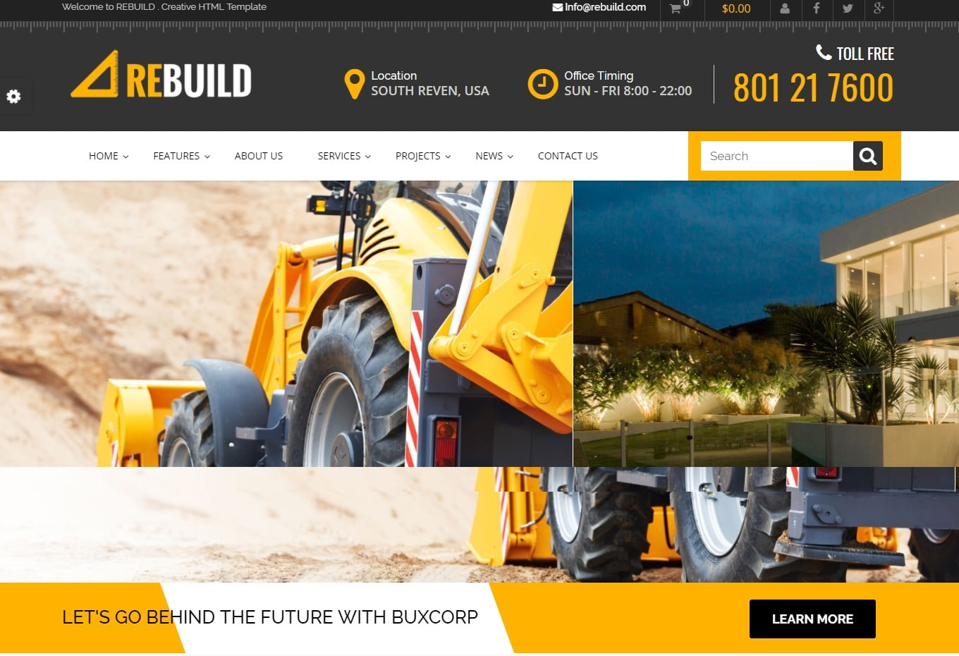 rebuild-html-construction-template