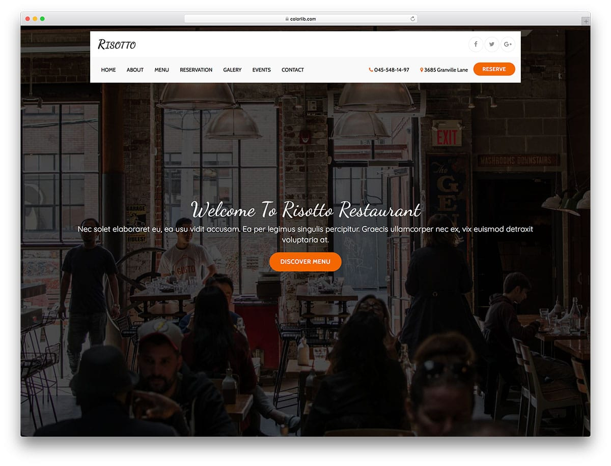risotto-free-restaurant-website-templates