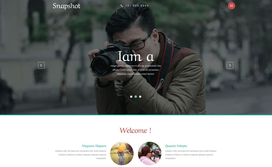 Best Free Photography Website Templates For Professionals UiCookies - Free photography website templates