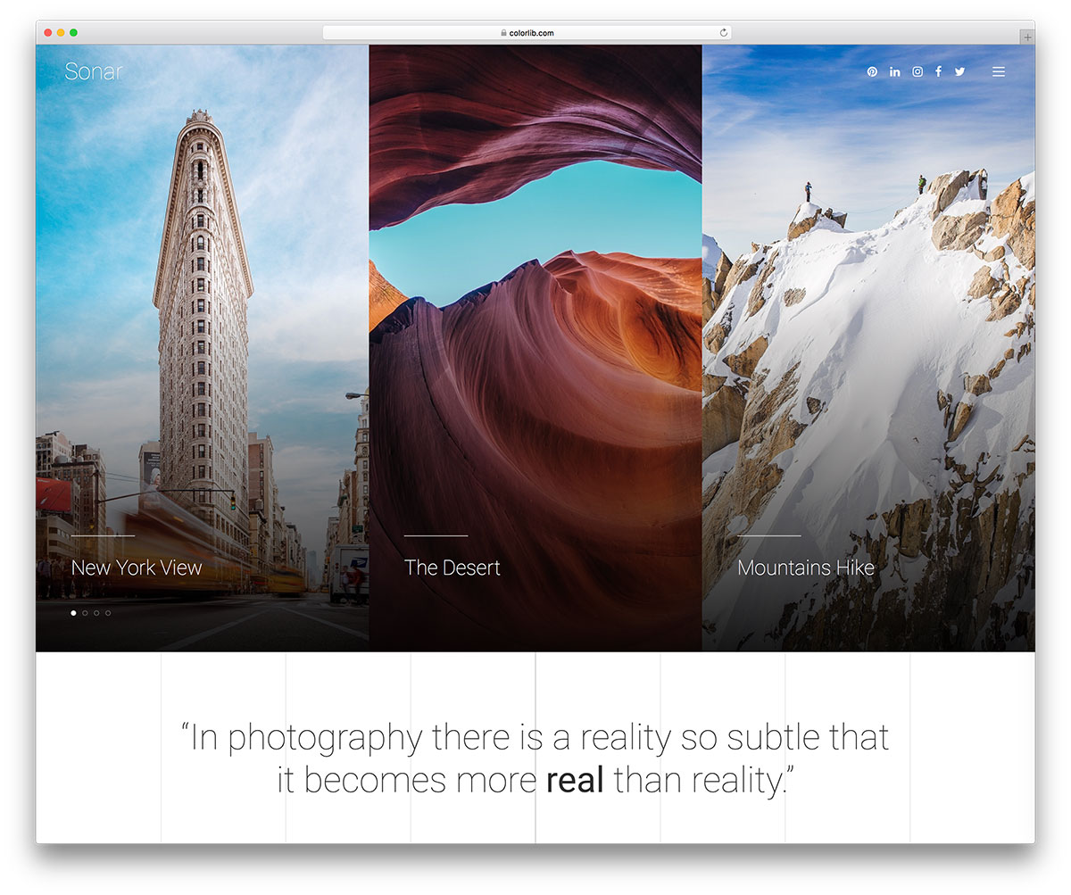 sonar-free-photography-website-templates