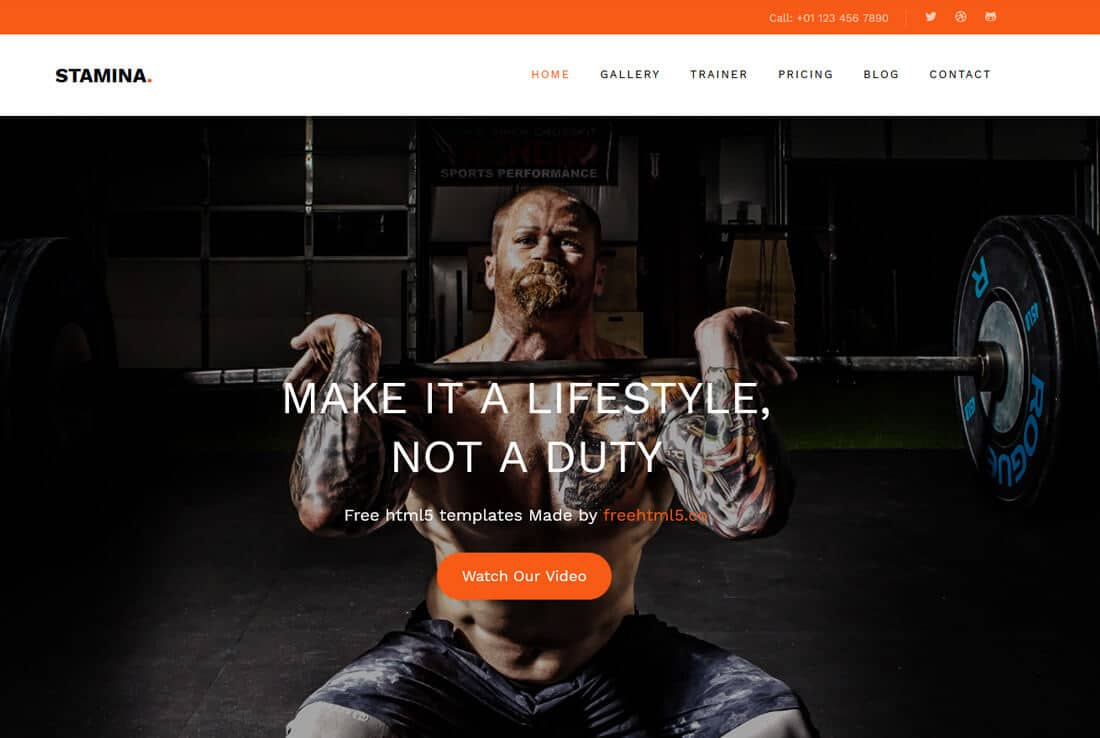 Fitness and gym website template free website templates in css.