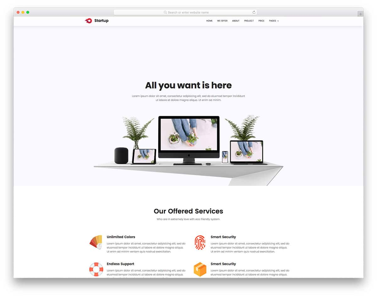 20 best free simple website templates for all famous niches 2018 - Website for home design ...