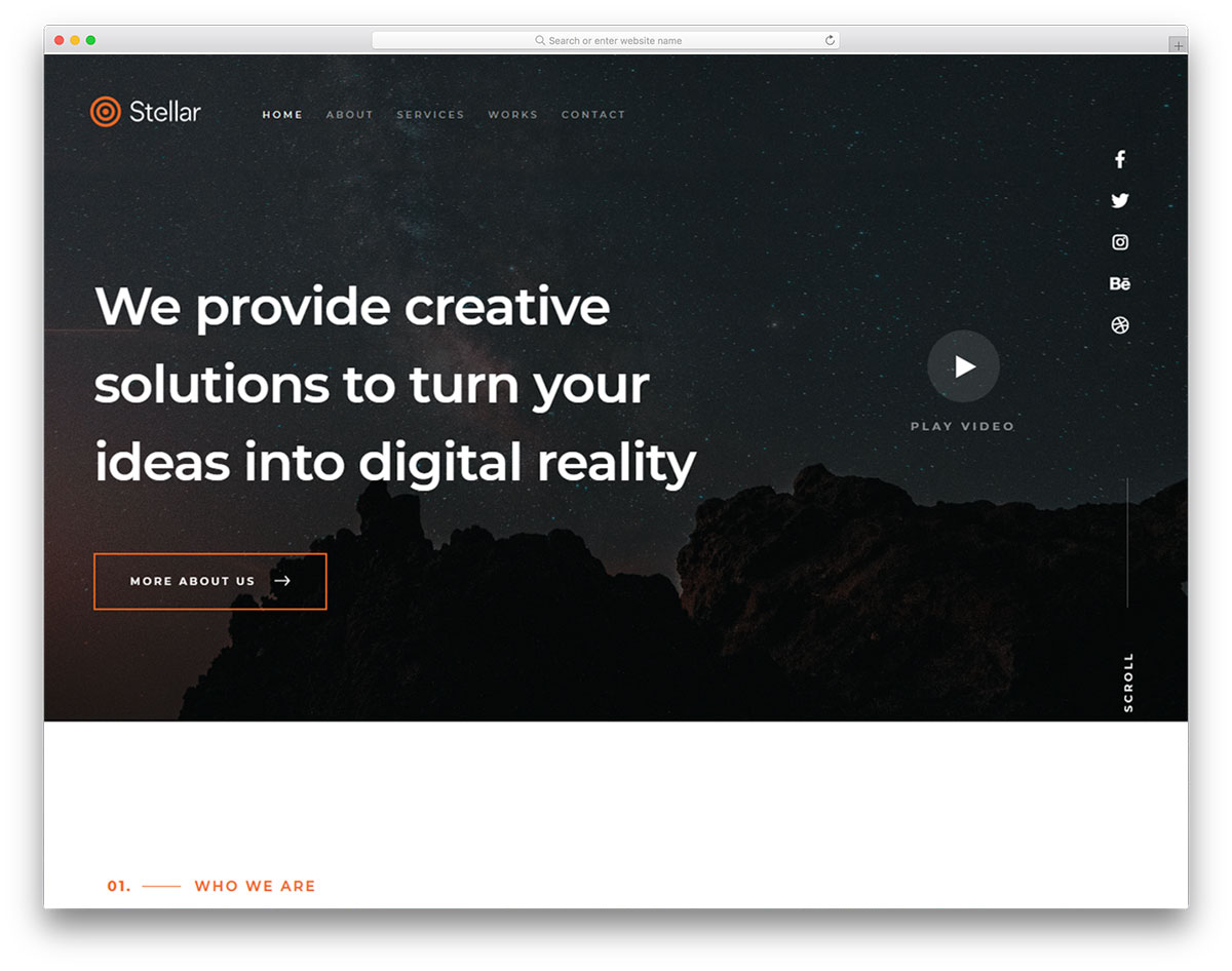 stellar-free-simple-website-templates