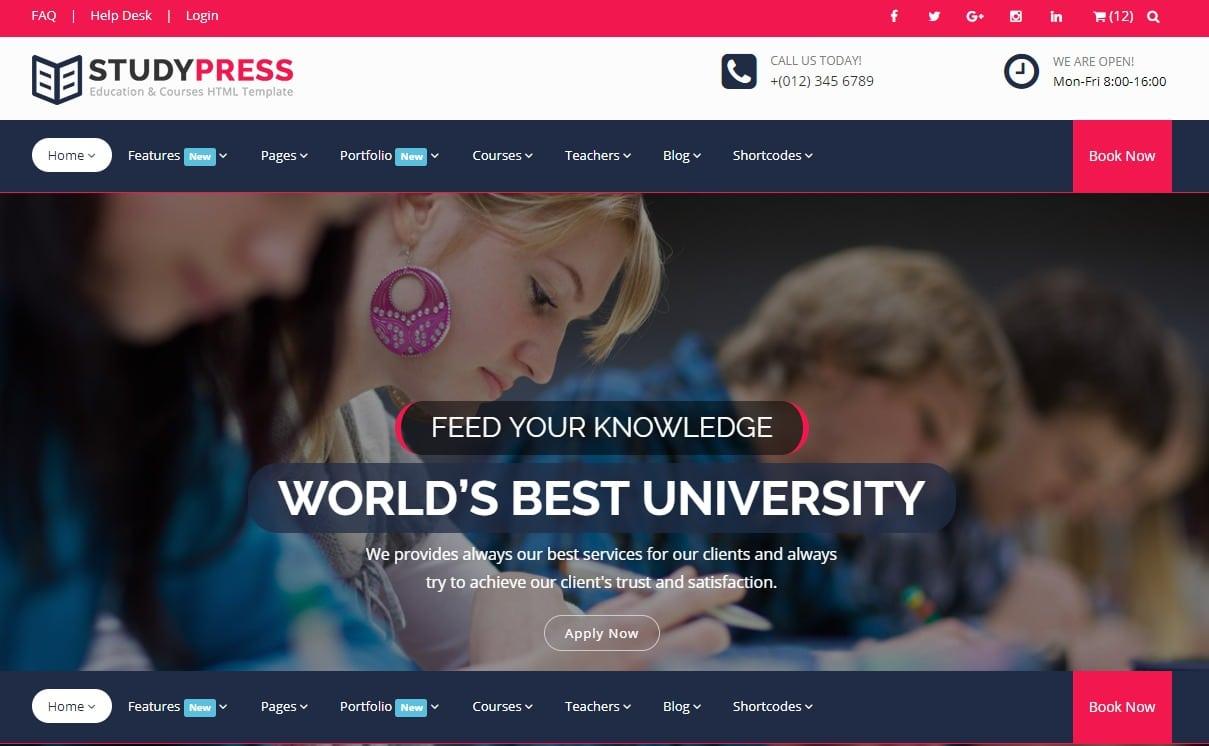 studypress-html-education-website-template