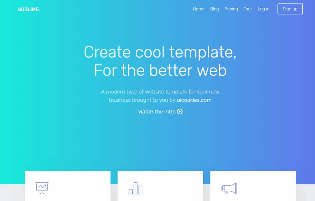 sublime-free-landing-page-templates