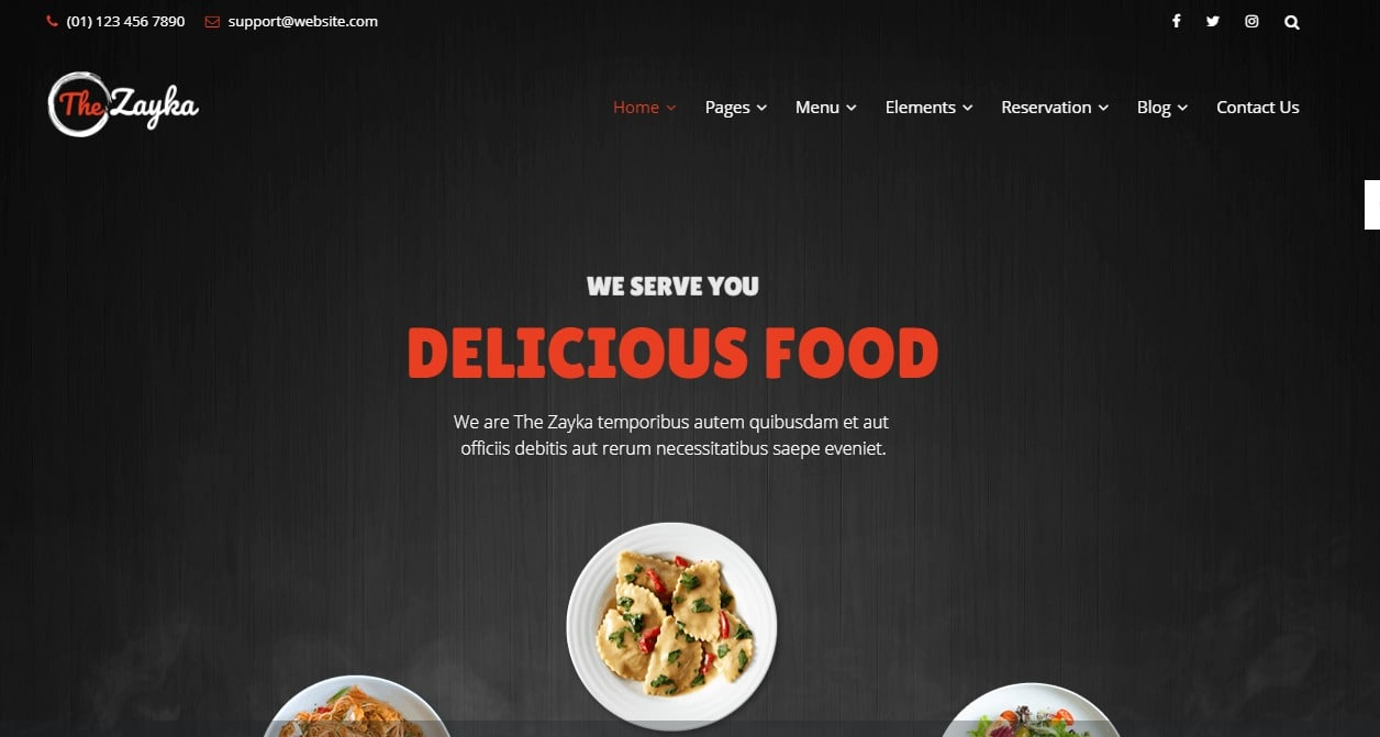the-zayka-html-restaurant-website-templates
