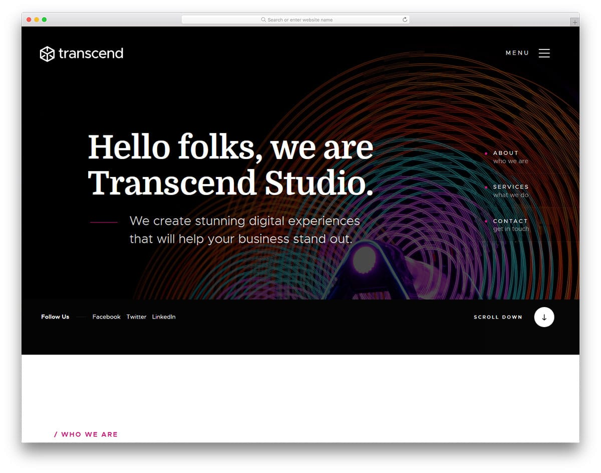 transcend-free-landing-page-templates