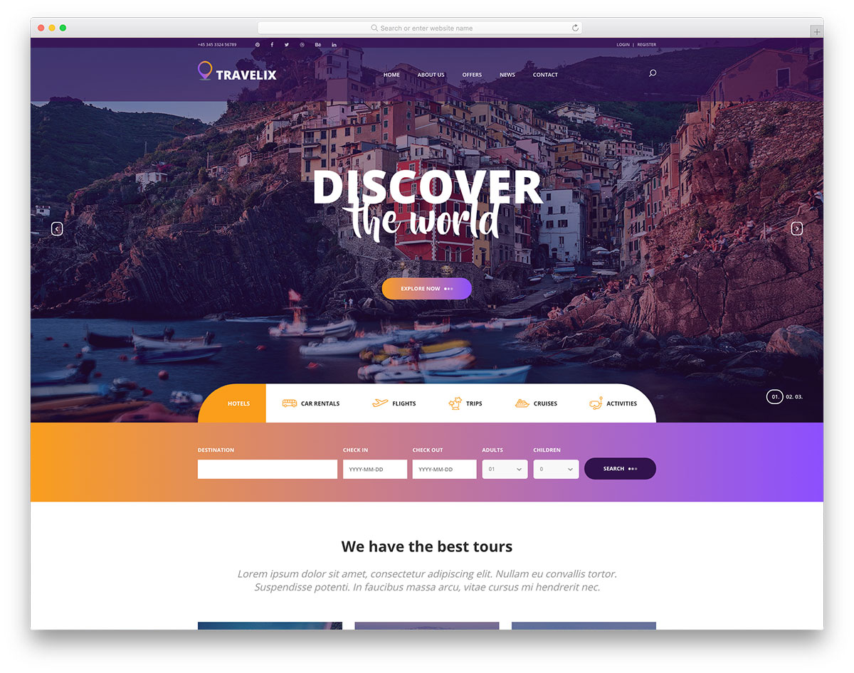 travelix-free-travel-website-templates