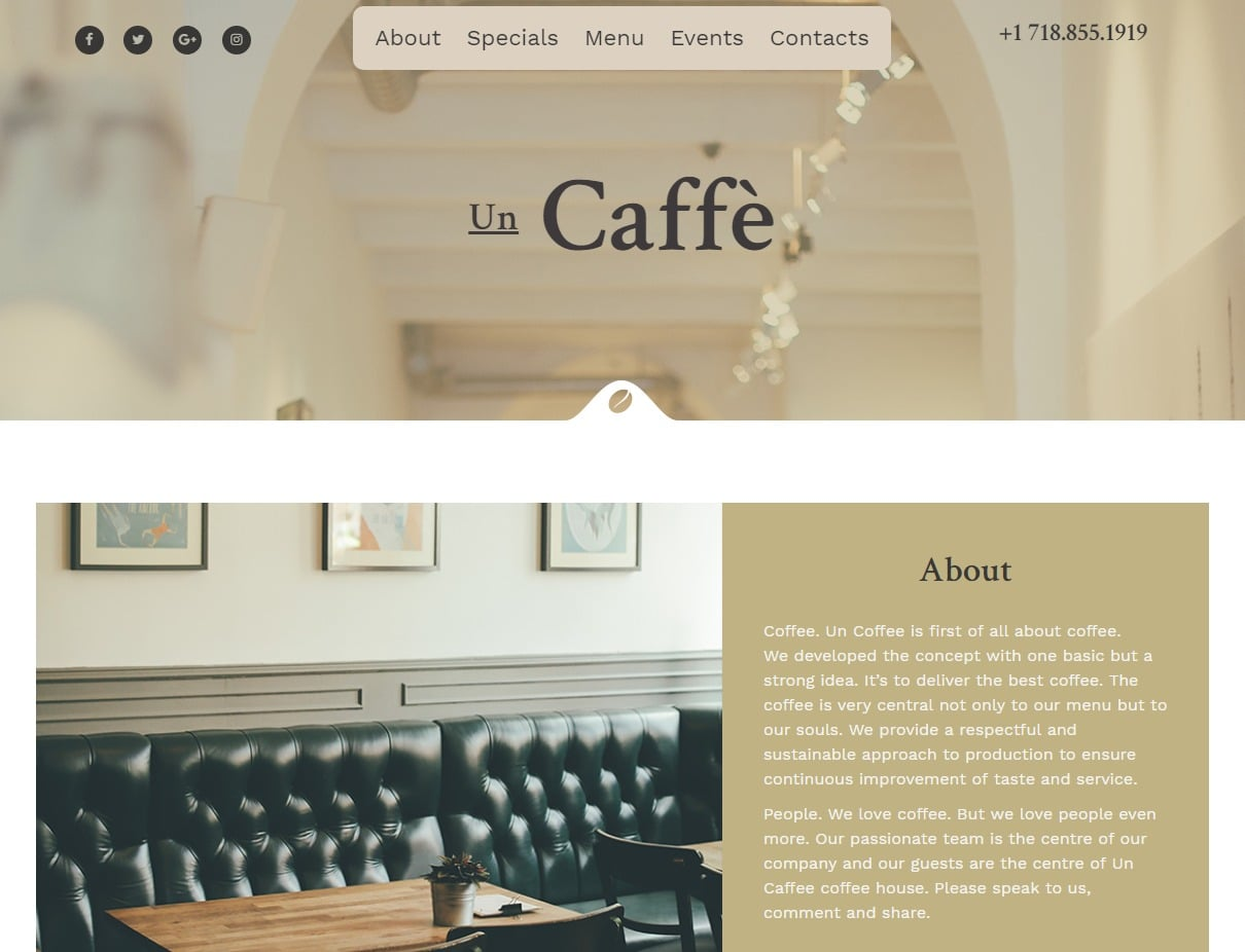 un-caffee-html-restaurant-website-templates