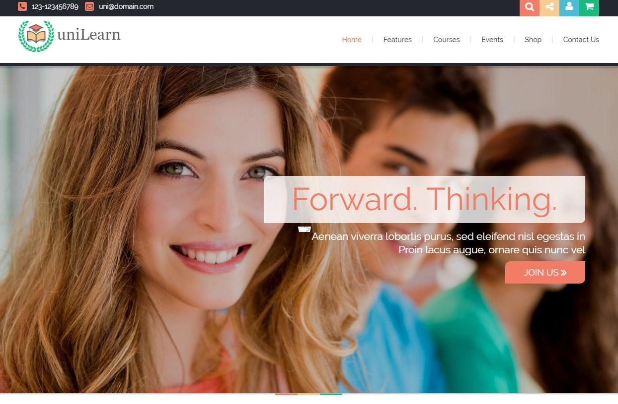 unilearn-html-education-website-template