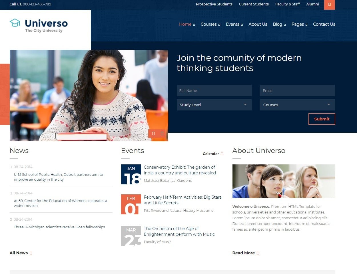 universo-html-education-website-template