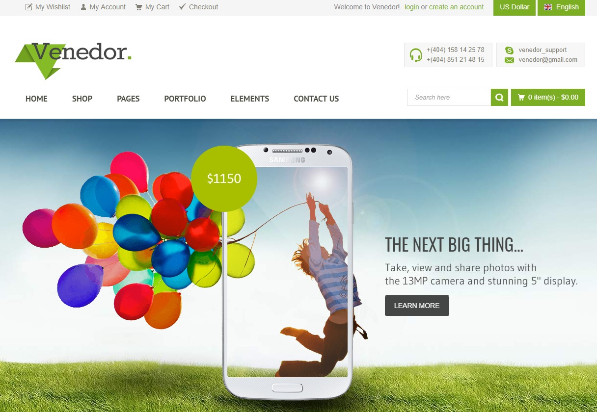 venedor-ecommerce-website-html-templates