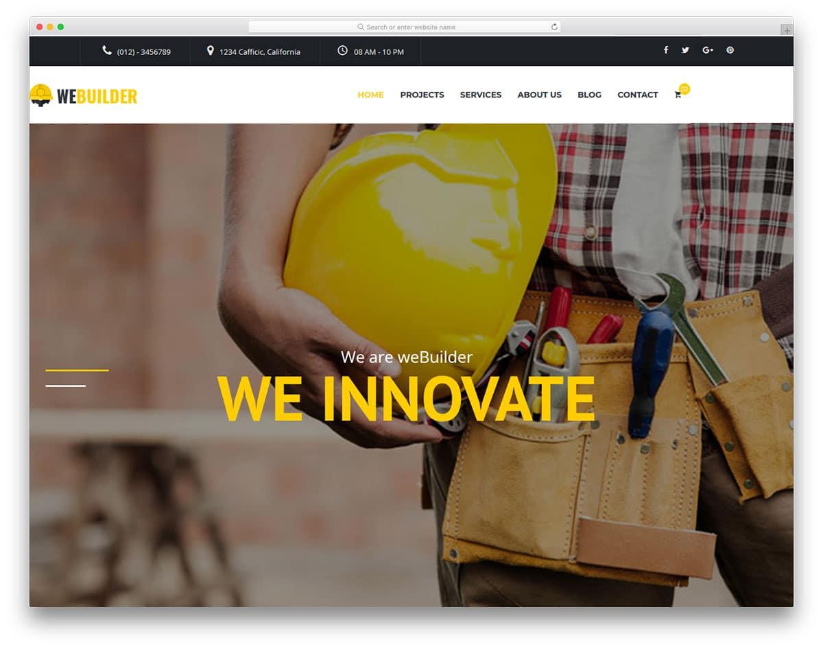 webuilder-free-construction-website-templates