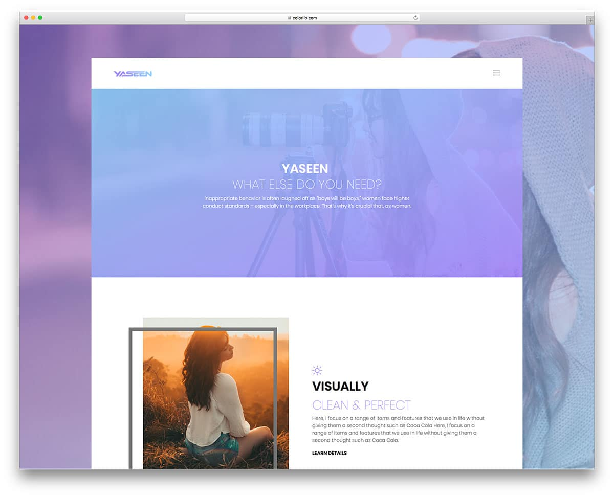 yaseen-free-photography-website-templates